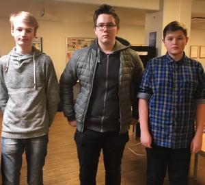 Topp tre kadetter. Foto Birgitta Rydztröm.