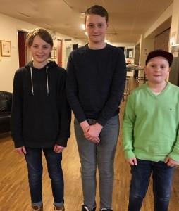 Topp tre miniorer. Foto Birgitta Rydztröm.